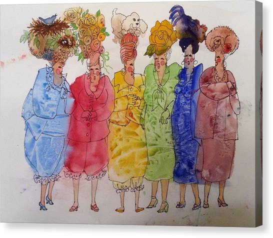 The Crazy Hat Society Canvas Print