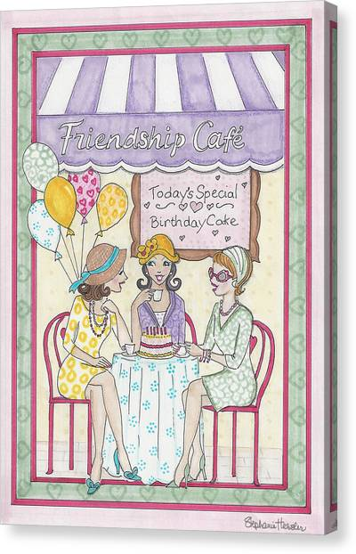 Friendship Cafe Canvas Print