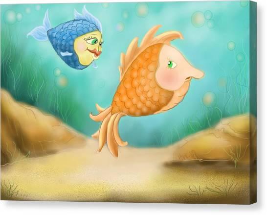 Friendship Fish Canvas Print by Hank Nunes