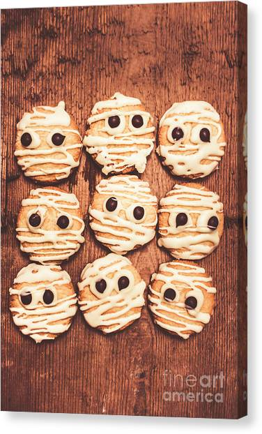 Worried Canvas Print - Frightened Mummy Baked Biscuits by Jorgo Photography - Wall Art Gallery