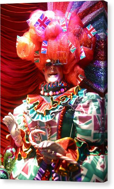 Frightening Dame Canvas Print by Jez C Self