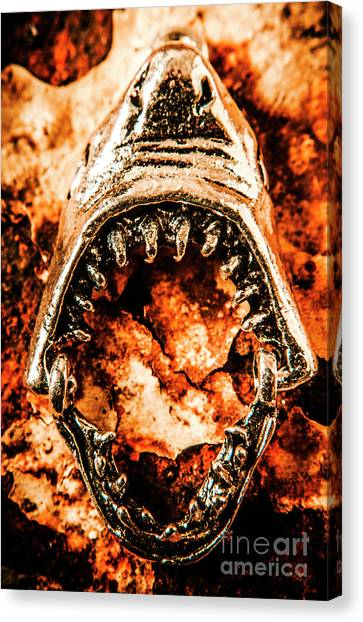 Jaws Canvas Print - Frightening Marine Scene by Jorgo Photography - Wall Art Gallery