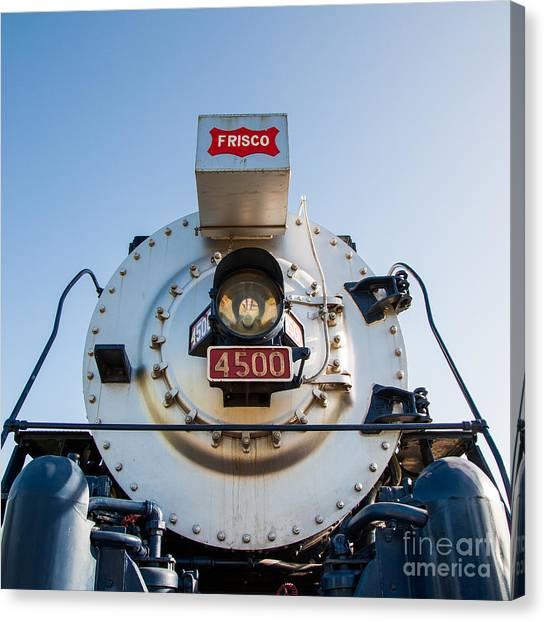 Frisco Meteor On Route 66 In Tulsa Oklahoma Canvas Print