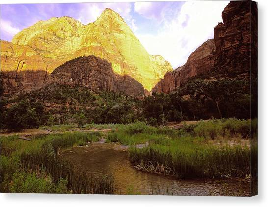 Frist Light Zion Canvas Print by Alan Lenk