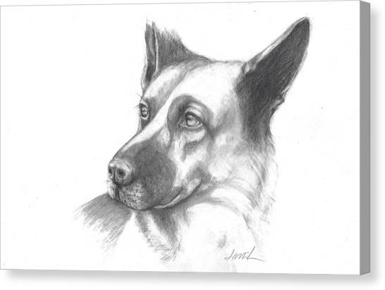 Fritz The German Shepherd Canvas Print