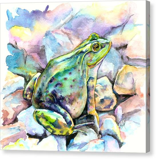 Frog Canvas Print by Christy Freeman Stark