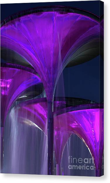 Mba Canvas Print - Frog Fountain At Texas Christian University by Greg Kopriva