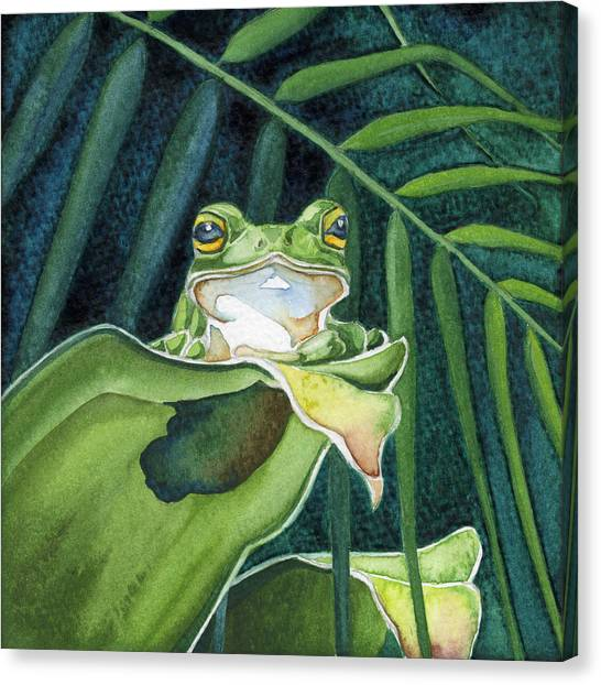 Frog The Pose Canvas Print