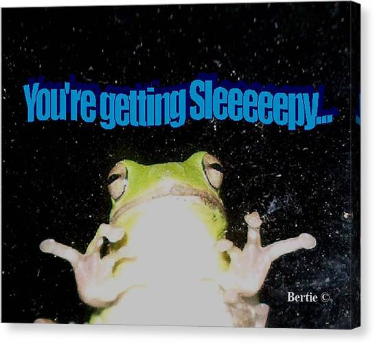Frog  You're Getting Sleeeeeeepy Canvas Print