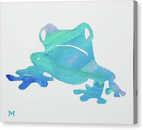 Canvas Print featuring the painting Froggie Friend by Candace Shrope