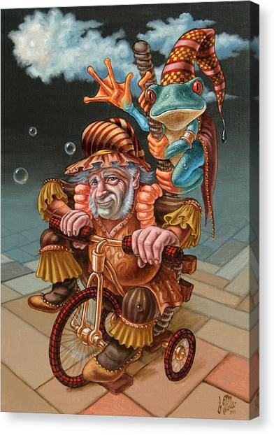 Froggy Circus Canvas Print