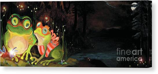 Frogs At Silver Lake Canvas Print