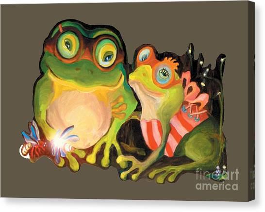 Frogs Transparent Background Canvas Print