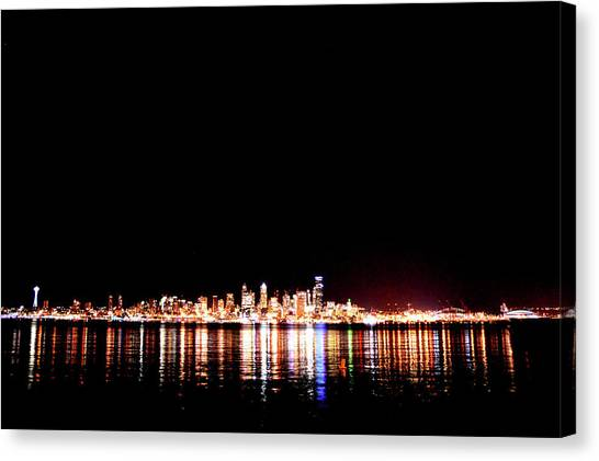 From Alki -wide Canvas Print