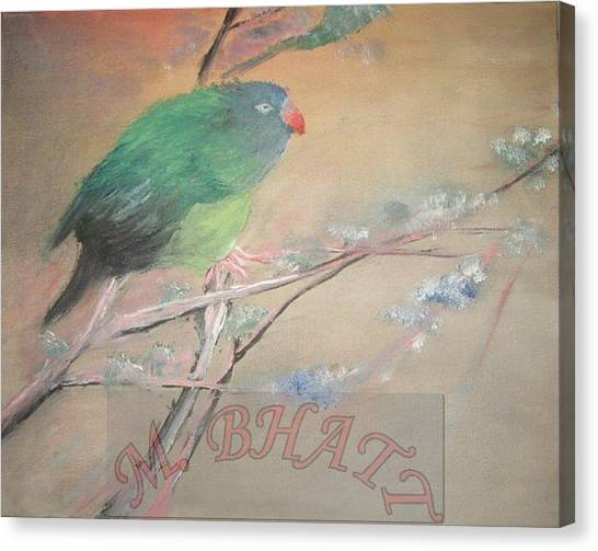 From Nest To Branch Canvas Print by M Bhatt