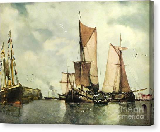 Canvas Print - From Sail To Steam - Transitions by Lianne Schneider