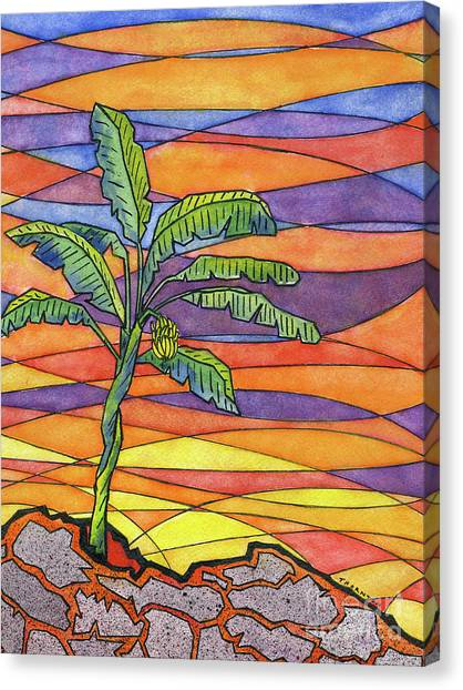 Banana Tree Canvas Print - From The Ashes by Diane Thornton