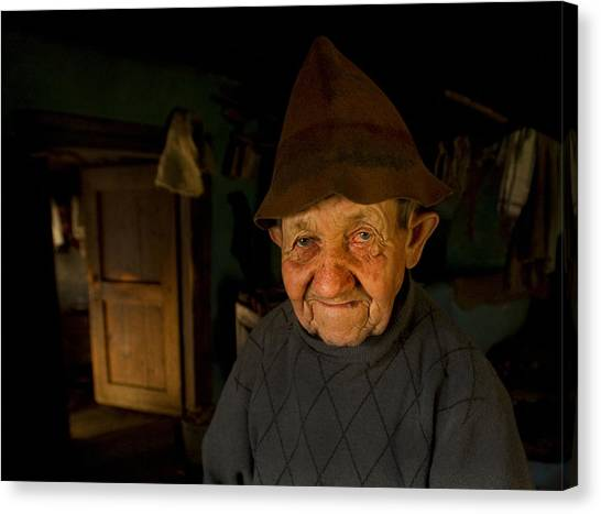 Old Man Canvas Print - From The Fairy Tale (ii) by Mihnea Turcu