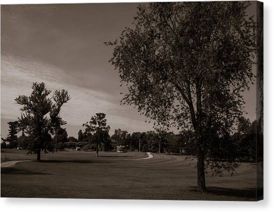 Canvas Print featuring the photograph From The Fields - The Hermitage by James L Bartlett