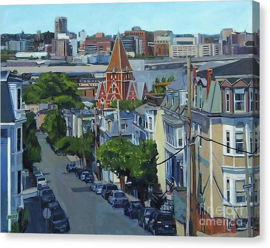 From The Heights To Boston Canvas Print