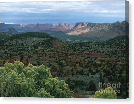 From The La Sal Mountains Canvas Print by Stan and Anne Foster