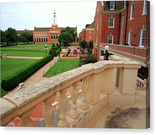 Oklahoma State University Canvas Print - From The Union Balcony  by Buck Buchanan