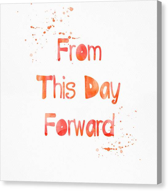 Anniversary Canvas Print - From This Day Forward by Linda Woods