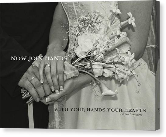 From This Day Forward Quote Canvas Print by JAMART Photography