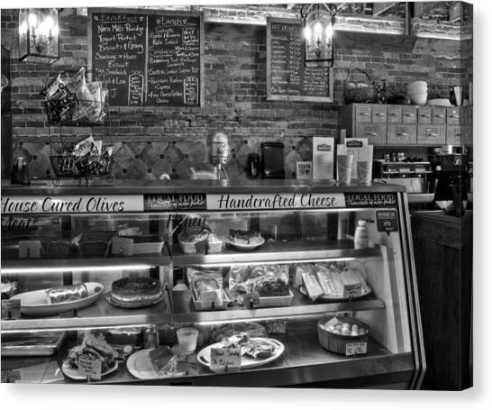 Eggs And Bacon Canvas Print - From Tobacco To Food In Black And White by Greg Mimbs