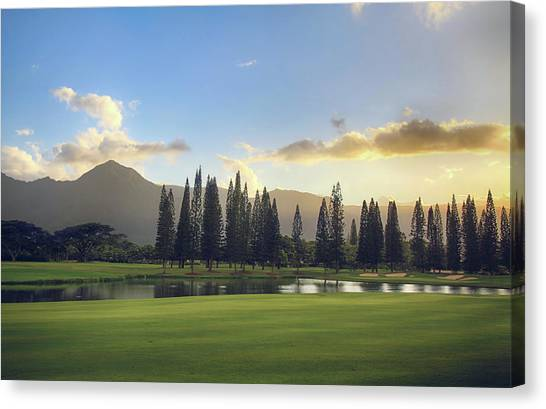 Golf Course Canvas Print - From Tonight Until The End Of Time by Laurie Search
