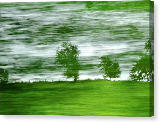 Canvas Print featuring the photograph heading north of Yorkshire to Lake District - UK 2 by Dubi Roman