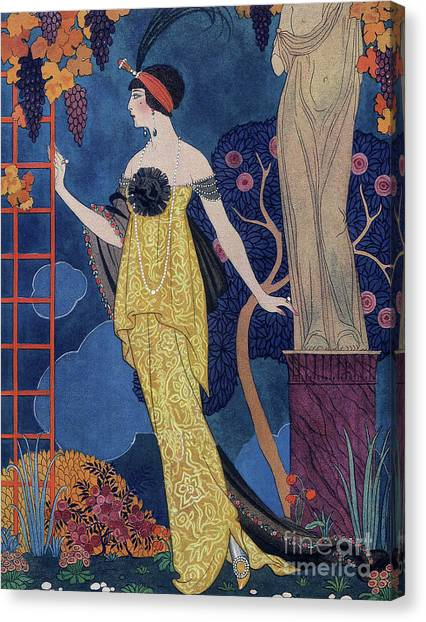 Trellis Canvas Print - Front Cover Of Les Modes by Georges Barbier
