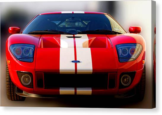 Front Ford Gt Canvas Print by James Granberry