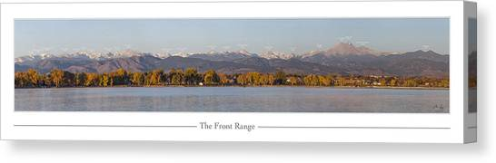 Rocky Mountain Canvas Print - Front Range With Peak Labels by Aaron Spong