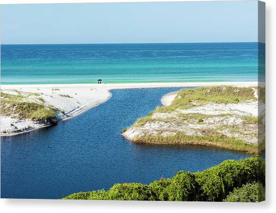 Front Row Seat On The Beach Canvas Print