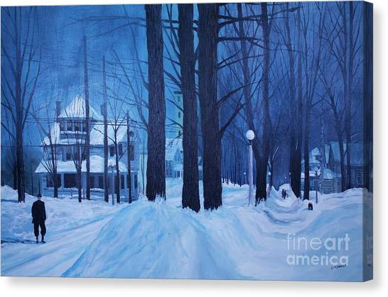 Marquette University Canvas Print - Front Street In The '50s by Tim Lindquist