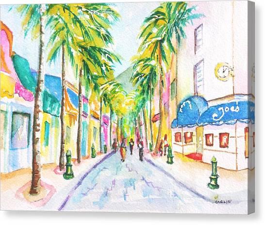 Front Street Philipsburg St. Maarten  Canvas Print