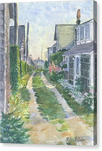 Front Street Siasconset Nantucket Canvas Print