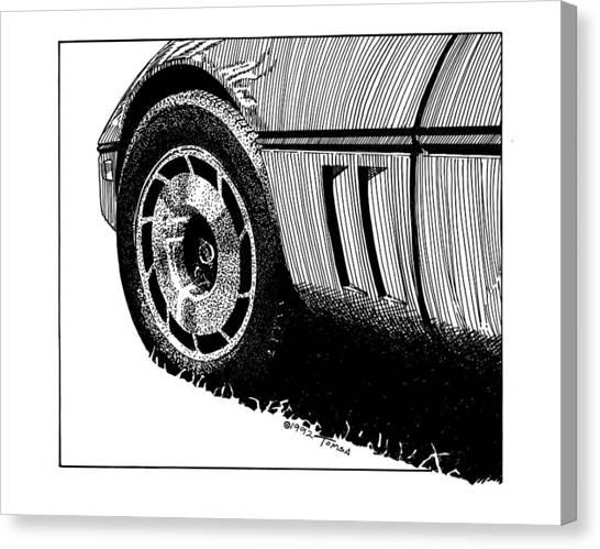 Automotive Art Series Canvas Print - Front Wheel Study - Art By Bill Tomsa by Bill Tomsa