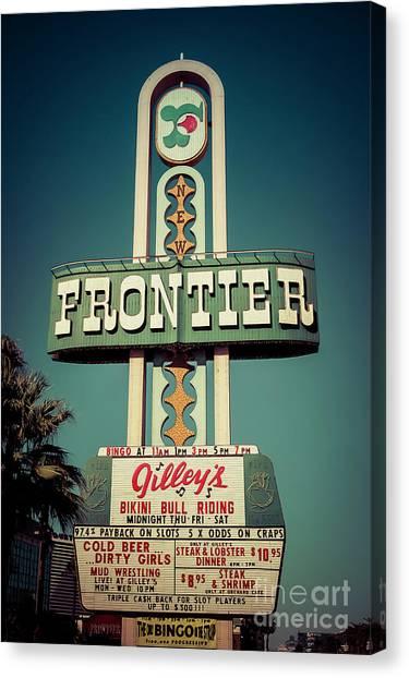 Frontier Hotel Sign, Las Vegas Canvas Print