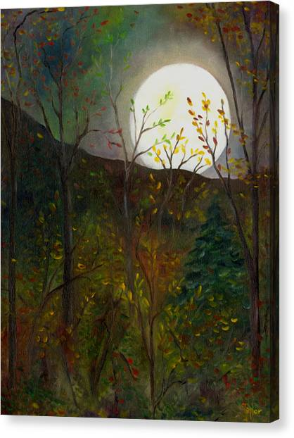 Frost Moon Canvas Print