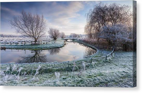 Frost Canvas Print - Frost On The Marshes by George Johnson