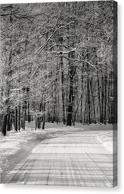 Frosted Steps Canvas Print