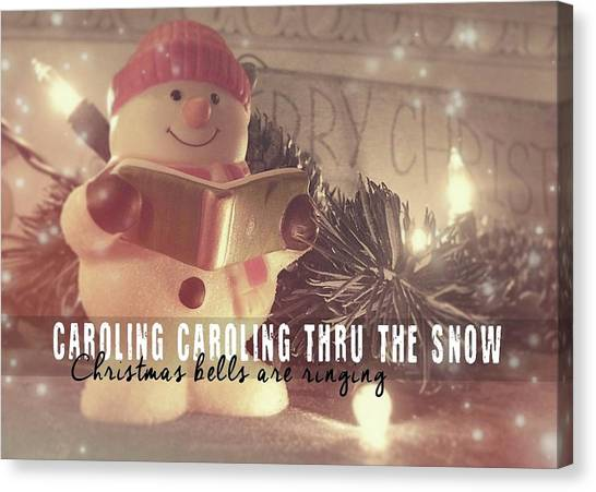 Frosty Caroler Canvas Print by JAMART Photography