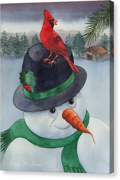 Frosty Friend Canvas Print by Brad McLean