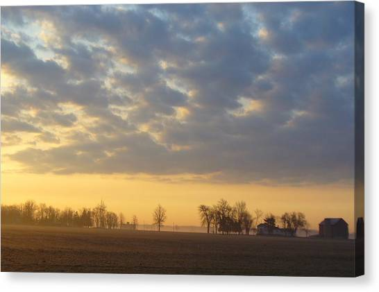 Frosty Spring Sunrise Canvas Print