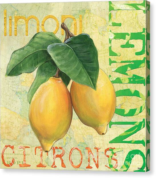 Fruit Canvas Print - Froyo Lemon by Debbie DeWitt