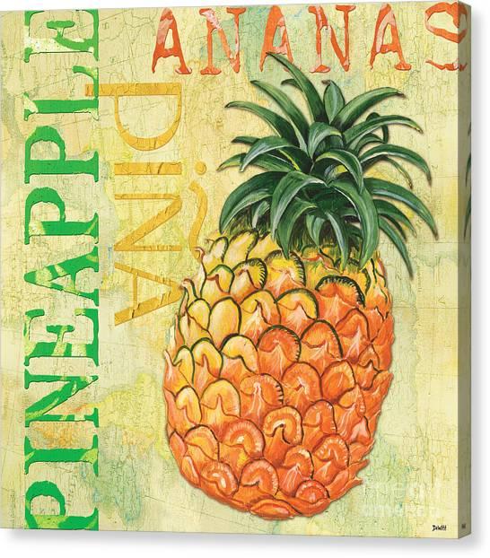Lemons Canvas Print - Froyo Pineapple by Debbie DeWitt
