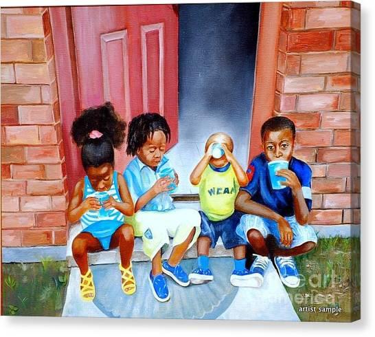 Frozen Cups Canvas Print