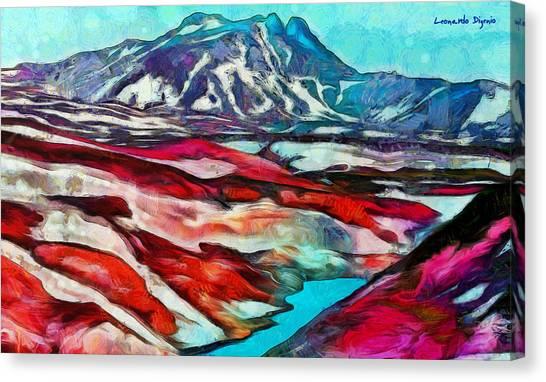 Snowing Canvas Print - Frozen Desert - Pa by Leonardo Digenio